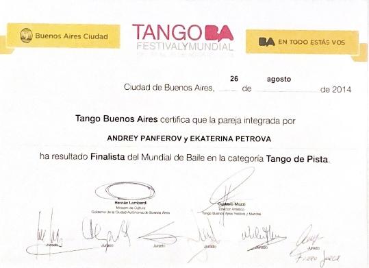 mundiale de tango final